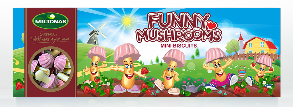Biscuit - white chocolate flavoured mushrooms 170 grams